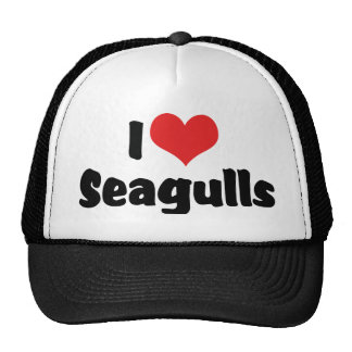 I Love Heart Seagulls - Bird Lover Cap