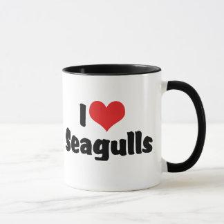 I Love Heart Seagulls - Bird Lover Mug