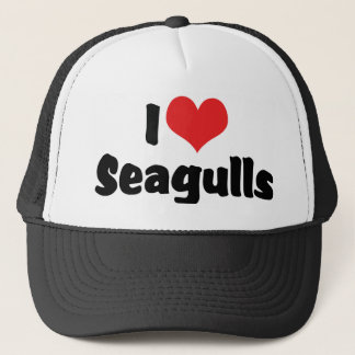 I Love Heart Seagulls - Bird Lover Trucker Hat