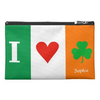 I Love Heart Shamrocks Ireland Travel Accessories Bags