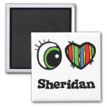 I Love (Heart) Sheridan Square Magnet