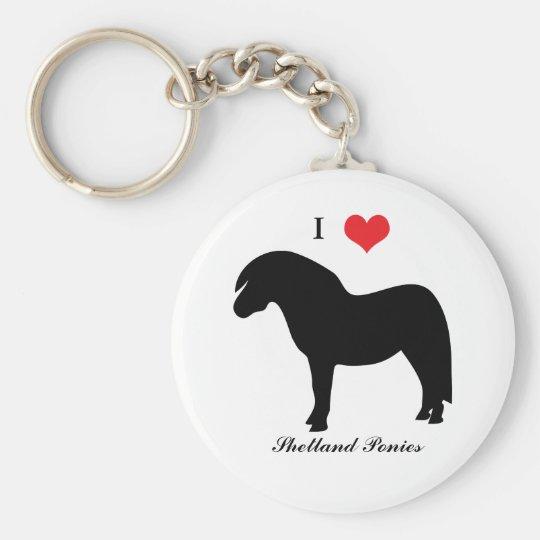 I love heart shetland ponies, keychain, gift idea