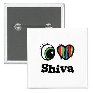 I Love (Heart) Shiva 15 Cm Square Badge
