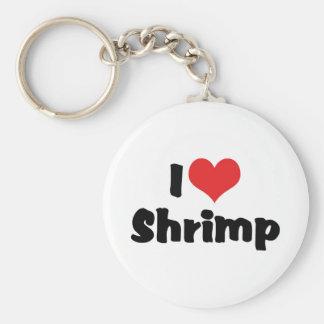 I Love Heart Shrimp - Sea Food Lover Basic Round Button Key Ring
