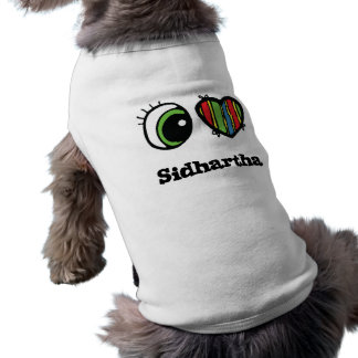 I Love (Heart) Sidhartha Sleeveless Dog Shirt