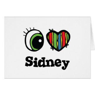 I Love Heart Sidney Greeting Card