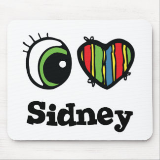 I Love (Heart) Sidney Mouse Pad