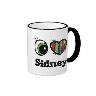 I Love (Heart) Sidney Ringer Mug
