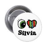 I Love (Heart) Silvia 6 Cm Round Badge
