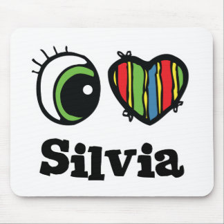 I Love (Heart) Silvia Mouse Mat