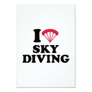 I love heart Skydiving 9 Cm X 13 Cm Invitation Card