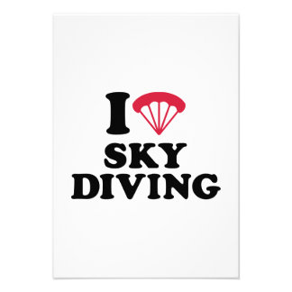 I love heart Skydiving Invitations