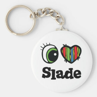 I Love (Heart) Slade Basic Round Button Key Ring
