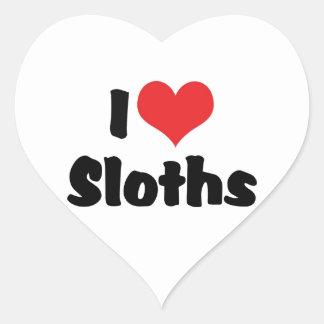 I Love Heart Sloths Heart Sticker