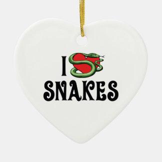 I Love Heart Snakes Christmas Ornament