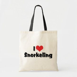 I Love Heart Snorkeling - Tropical Fish Lover Budget Tote Bag