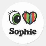 I Love (Heart) Sophie Round Sticker