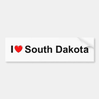 I Love (Heart) South Dakota Bumper Sticker