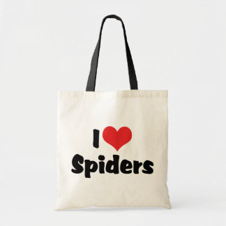 I Love Heart Spiders Tote Bag