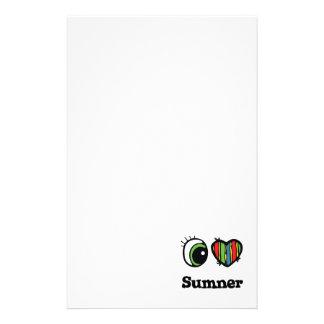 I Love (Heart) Sumner Stationery Paper