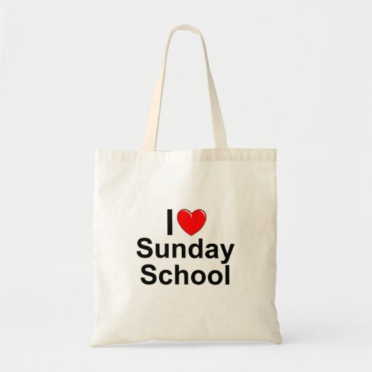 I Love (Heart) Sunday School Tote Bag