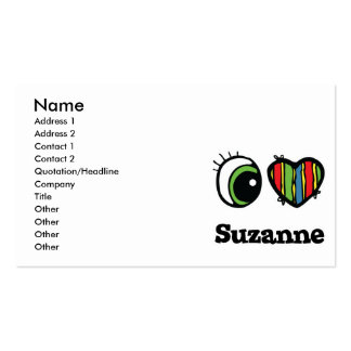 I Love (Heart) Suzanne Business Card Template