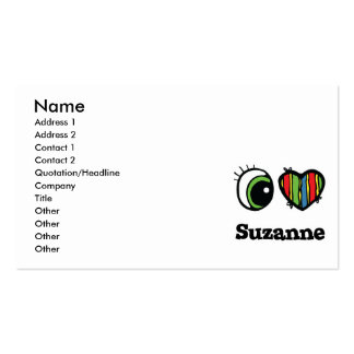 I Love (Heart) Suzanne Business Cards