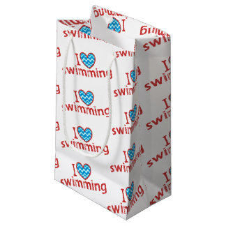I love (heart) Swimming Gift Bag