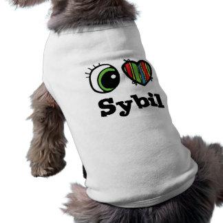 I Love (Heart) Sybil Sleeveless Dog Shirt