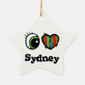 I Love (Heart) Sydney Christmas Ornament