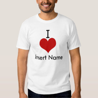 I Love (heart) T-shirts