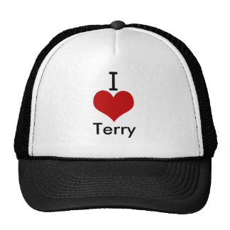 I Love (heart) Terry Mesh Hat