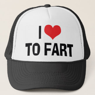 I Love Heart To Fart - Funny Fart Humor Trucker Hat