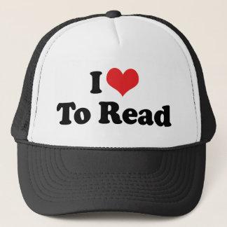 I Love Heart To Read - Book Lover Trucker Hat