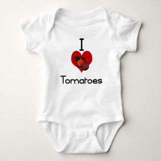 I love-heart tomatoes baby bodysuit