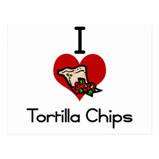 I love-heart tortilla chips postcard