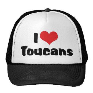 I Love Heart Toucans - bird Lover Cap