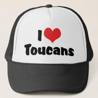 I Love Heart Toucans - bird Lover Trucker Hat