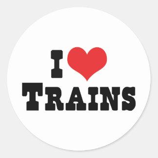 I Love Heart Trains - Model Train Lover Round Sticker