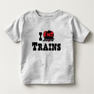I Love Heart Trains - Model Train Lover Toddler T-Shirt