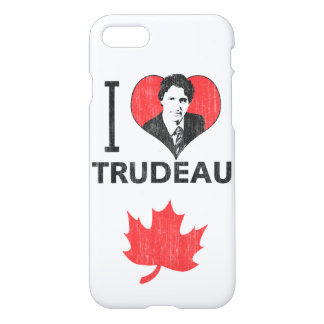 I Love (Heart) Trudeau iPhone 7 Case