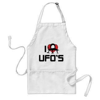 I Love Heart UFO's - Roswell Area 51 Alien Lover Standard Apron
