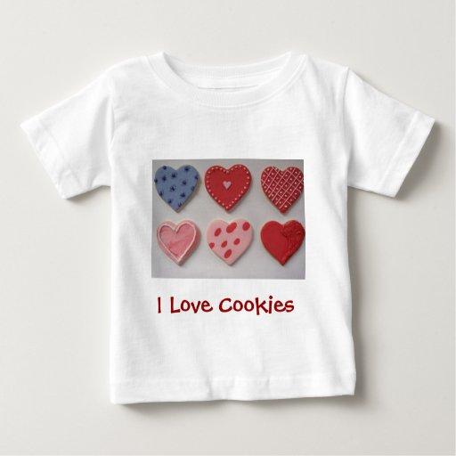 I Love Heart Valentine Cookies Tee Shirt
