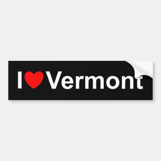I Love (Heart) Vermont Bumper Sticker