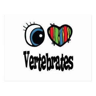 I Love (Heart) Vertebrates Post Card