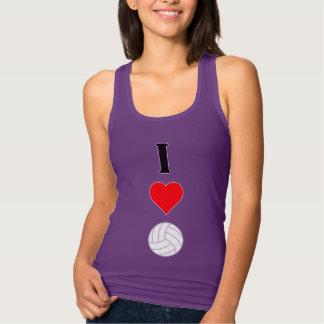 I Love (Heart) Volleyball Vertical Women's Tanktop