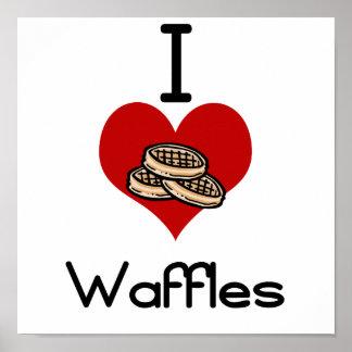 I love-heart waffles print