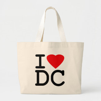 I Love Heart Washington D.C. District of Columbia Large Tote Bag
