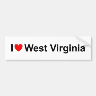 I Love (Heart) West Virginia Bumper Sticker