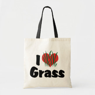 I Love Heart Wheatgrass - Juicing Healthy Living Budget Tote Bag